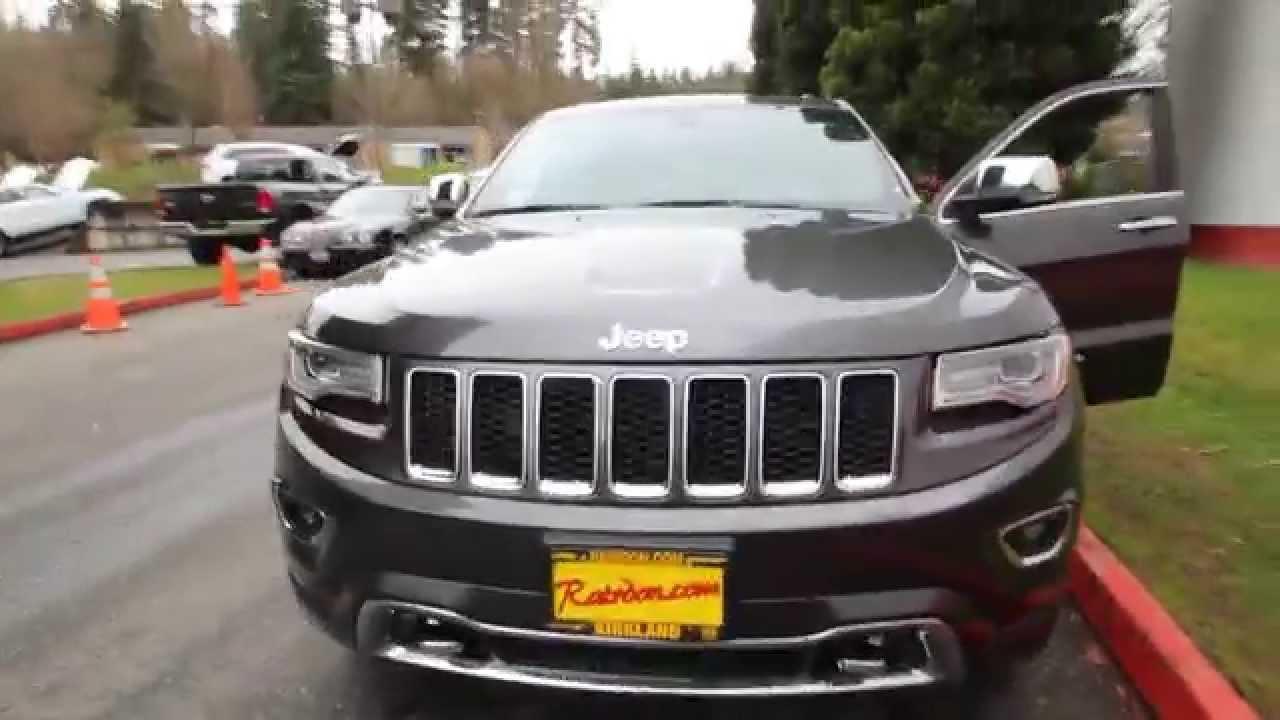 Jeep Grand Cherokee Overland >> 2014 Jeep Grand Cherokee Overland | Granite Crystal | EC400564 | Seattle | Bellevue - YouTube