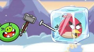 Angry Birds Frozen!! BREAK ICE CUBE TO UNFREEZE ANGRY BIRDS!