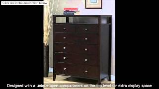Aristo Contemporary Halifax Brown Solid Wood 6-drawer Bedroom Chest Dresser or Living Room Furniture
