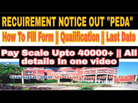 Recuirement Notice For PEDA || Punjab Energy Developement Agency || PEDA Posts || Peda Vacancies