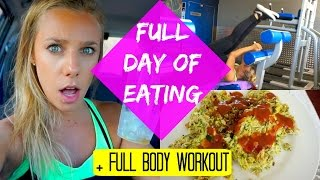 Full Day Of Eating | Full Body Workout + Healthy Tuna Patties