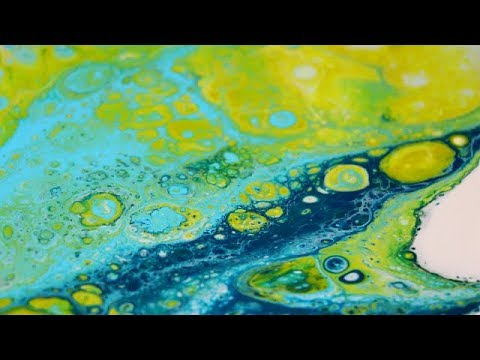 Color Theory Color Mixing Acrylic Fluid Paint Pour NO MUD!!!