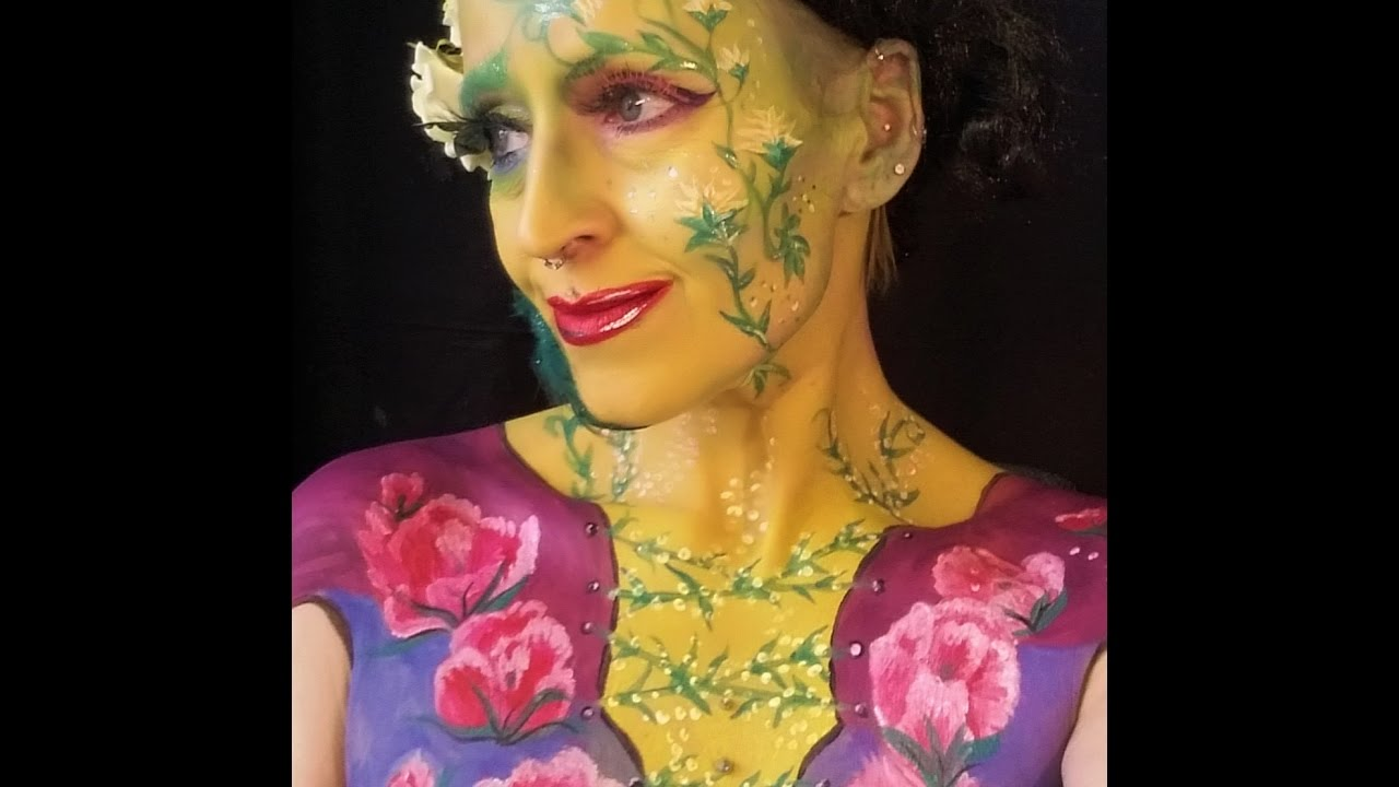 Mother Nature Face and Bodypaint MakeUp Tutorial YouTube