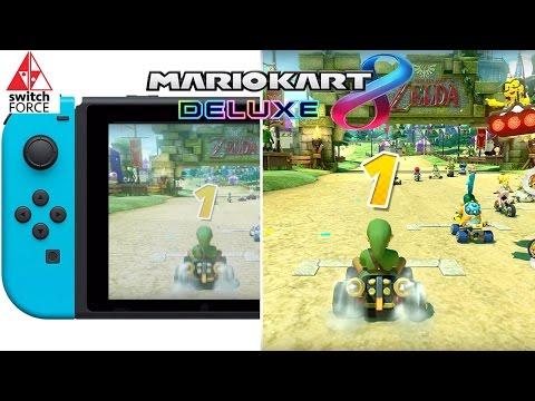 Mario Kart 8 Deluxe Docked vs. Handheld Performance Comparison! (Nintendo Switch MK8)