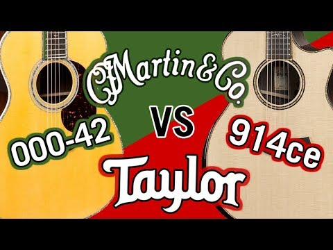 Taylor 914ce V-Class vs Martin Reimagined 000-42 Comparison