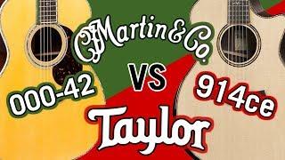 Taylor 914ce V-Class vs Martin Reimagined 000-42 Comparison