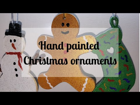 74 It's Christmas!!!! Hand painted hanging xmas decorations