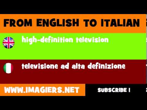 How to say high definition television in Italian