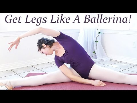Get Legs Like A Ballerina! Beginners Ballet 4 - At Home Leg & thigh Workout Floor Exercises!