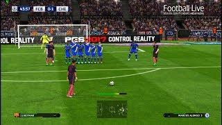 PES 2017 | FC Barcelona vs Chelsea FC | Neymar Free Kick Goal & Full Match | UEFA Champions League