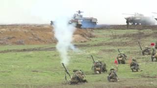 Розыгрыш тактического эпизода в ходе командно-штабного учения ВДВ России в Крыму