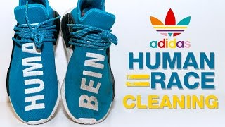 The Best Way to Clean Pharrell's Adidas Human Races (Sharp Blue)