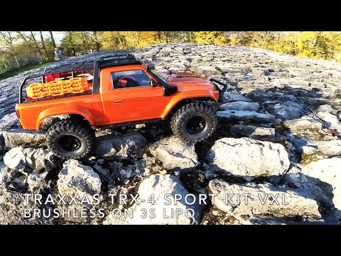 Traxxas TRX-4 Sport Kit VXL Brushless On 3s Lipo