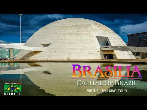 【4K】VIRTUAL WALKING TOUR: «BRASILIA - Brazil» Ultra HD + Chillout Music (for 2160p Ambient TV)