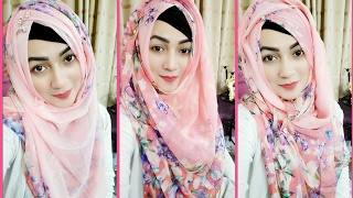 Hijab Style for School colleges Ragday Convocation ceremony with Square scarf | Pari ZaaD