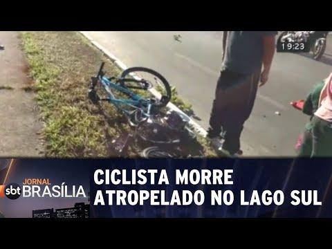 Ciclista morre atropelado no Lago Sul | Jornal SBT Brasília 20/08/2018