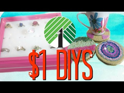$1 DIY Room Decor! Dollar Tree DIYs!