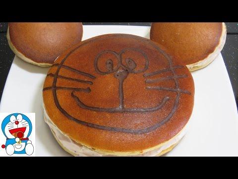 làm bánh Gato chiên dạy học làm bánh Mega Dorayaki Cake Recipes wagashi Торт на Сковороде