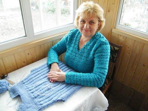 Как вязать спинку свитера