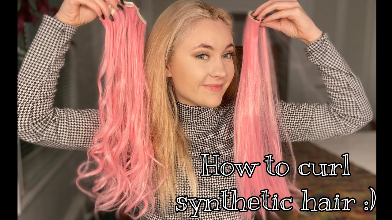 how to curl synthetic hair extensions