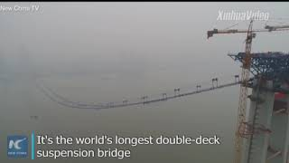 World's longest double deck bridge being built in China.