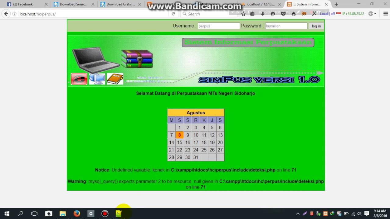 Source Code Php Aplikasi Perpus Sekolah Script Sistem Rmasi Akademik Sisfo Siakad