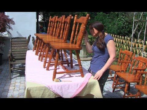 How To Upcycle Pine Chairs