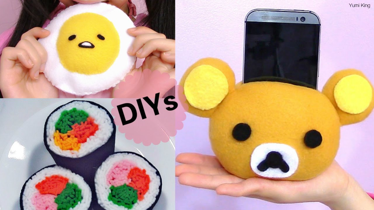 3 DIY Room Decors:DIY Sushi Plush/Felt+DIY Rilakkuma Plush ...