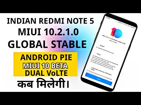 Repeat Redmi Note 5 miui 10 2 1 0 Global Stable Update Rolling Out