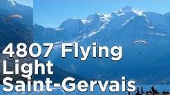 4807 Flying Light décollage refuge de Platé Saint-Gervais Mont-Blanc parapente montagne randonnée