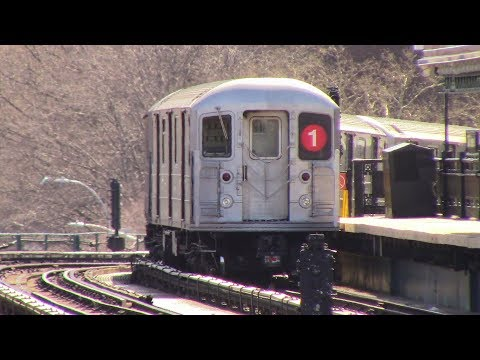 NYC SUBWAY:R62A 1 Train Action @ 207 Street