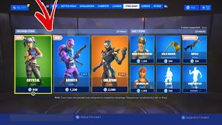 """NEW """"Bronto"""" AND """"Crystal"""" SKINS IN THE ITEM SHOP! Fortnite ITEM SHOP - August 3rd"""