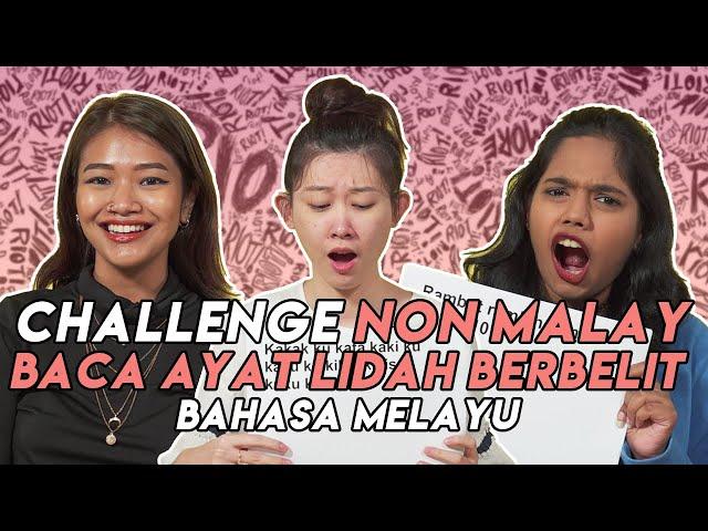 [OB CHALLENGE] Bila Non Malay Baca Ayat Lidah Berbelit Bahasa Melayu.. Ayat Ramlah Ram Paling Lawak!