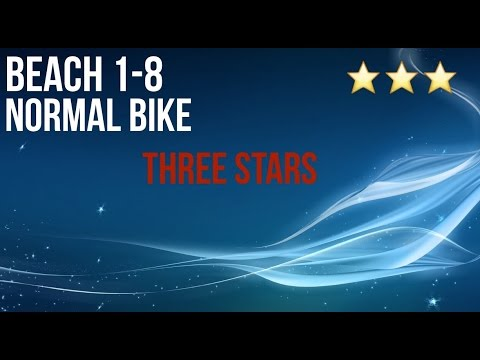 Bike Race Beach 1 8 Three Stars Normal Bike Walkthrough Youtube