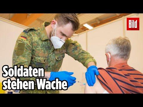 Kampf gegen Corona: Nachtschicht im Bundeswehr-Impfzentrum