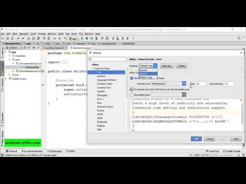 How to change the code display font size in Android Studio