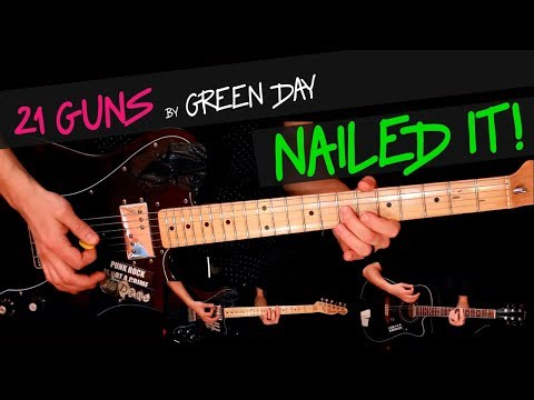 21 Guns - Green Day guitar cover by GV +chords