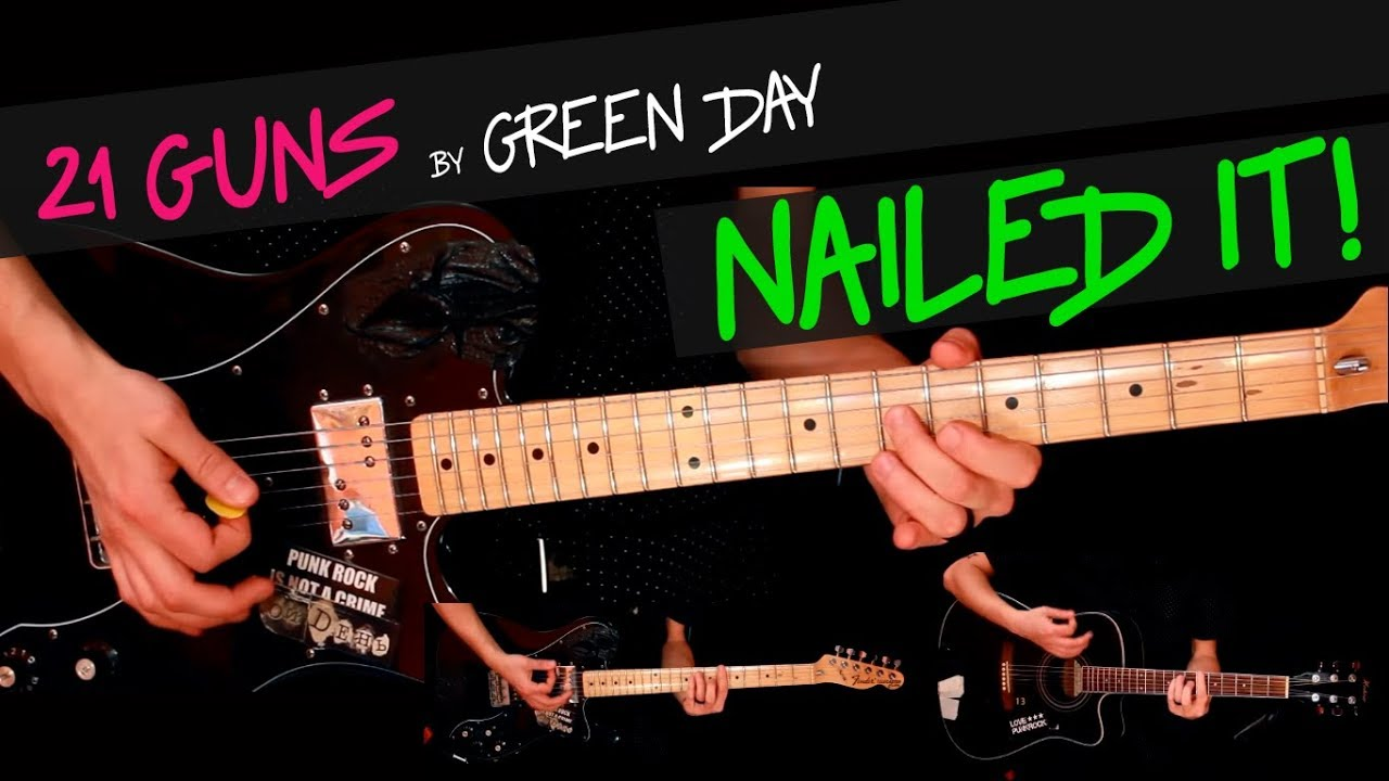 21 Guns Green Day Guitar Cover By Gv Chords Youtube