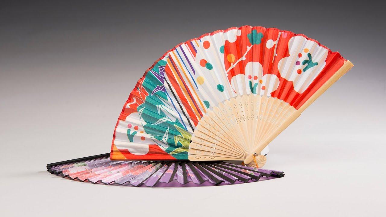 Japanese Folding Fans - YouTube