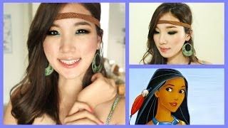 Pocahontas Makeup for Halloween ♥ Disney Princess Collaboration Thumbnail