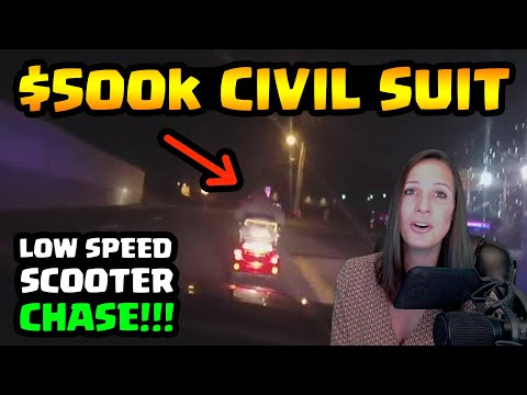 $500k CIVIL LAWSUIT - POLICE CHASE DISABLED WOMAN ON MOBILITY SCOOTER