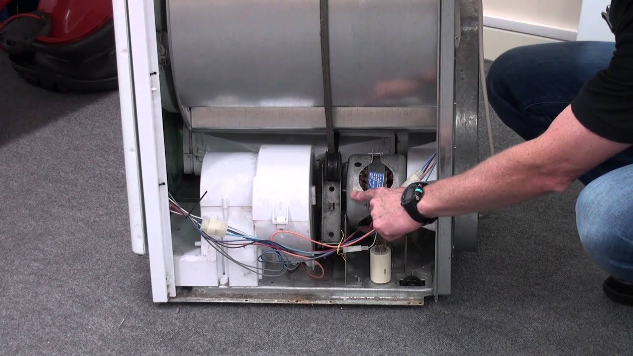 Dryer Motor Wiring Diagram How To Replace A Tumble Capacitor Youtube