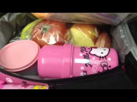 22a25f73a0 My New Hello Kitty Lunch Bag - YouTube