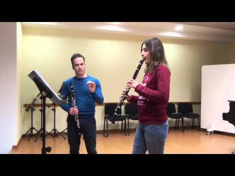 Curso de clarinete contemporáneo impartido en el CONSMUPA por Miguel Pérez Iñesta