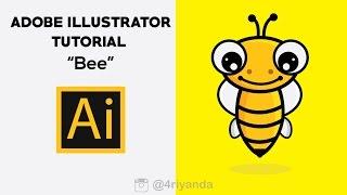 Adobe illustrator Tutorial   Bee logo design