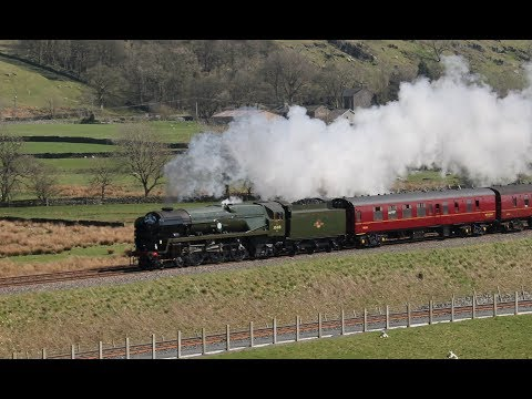 35018, 45690 & 45699 on full power; The Great Britain XI 20-04-2018