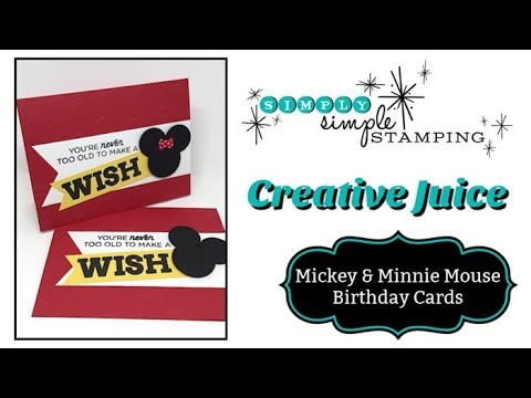 Quick Mickey & Minnie Mouse Birthday Card
