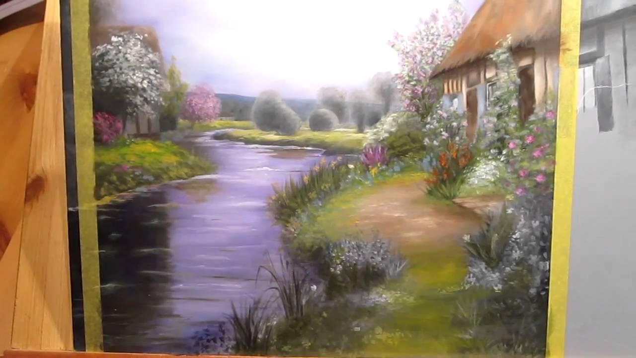 Étude de la technique de grisaille dans la peinture de paysage (2/2) - YouTube
