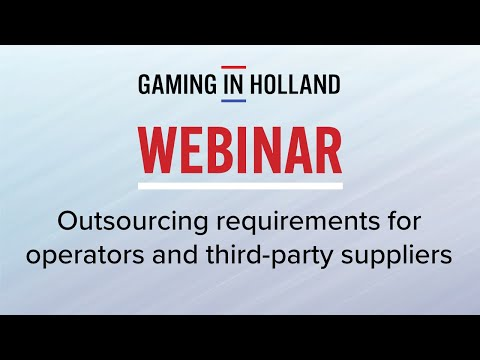 Outsourcing requirements for operators and third party suppliers