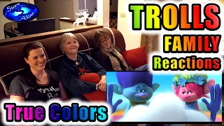 TROLLS | FAMILY Reactions | TRUE COLORS